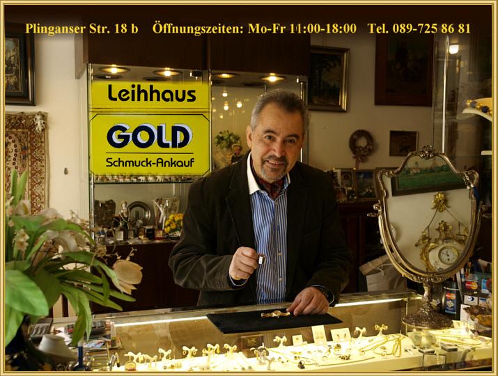Goldankauf München Sendling Nähe Harras Schmuck Antiquitäten